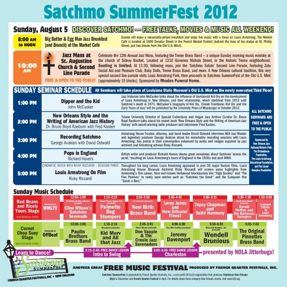 Satchmo Summer Fest, Sunday, August 5, 2012
