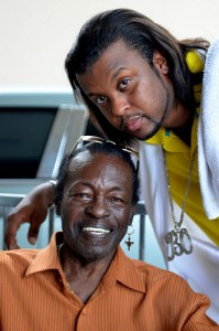 Bo Dollis Sr. and Jr. at Jazz in the Park Concert, May 24, 2012. Photo: Kim Welsh.