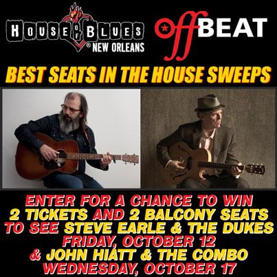 Steve Earle, John Hiatt, House of Blues Ticket Giveaway