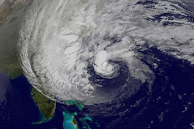Hurricane Sandy, Satellite Image