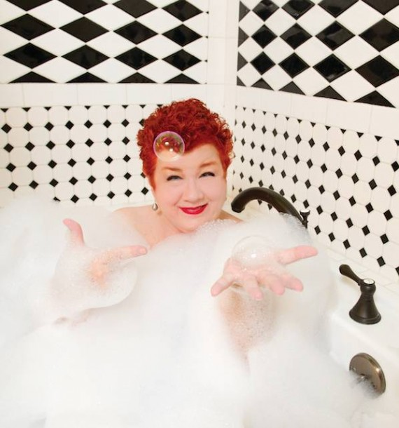 Jan Ramsey, bubble bath, Elsa Hahne photo