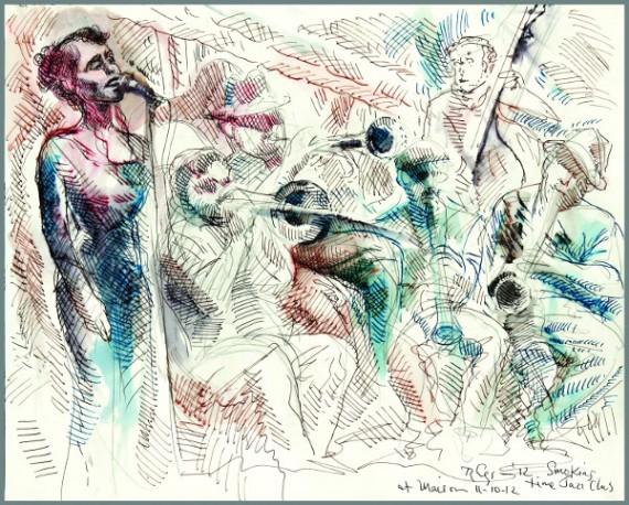 Smoking Time Jazz Club, Maison, Emilie Rhys, illustration