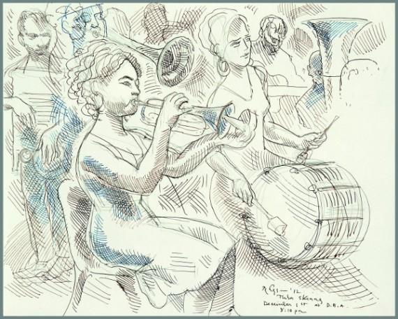 Tuba Skinny, d.b.a., Emilie Rhys, illustration