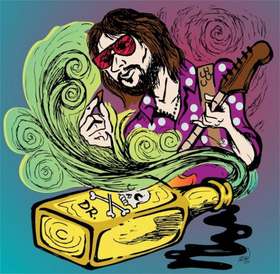 Eric Clapton, illustration, L Steve Williams