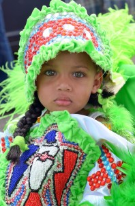Mardi Gras Indian Child green by Kim Welsh 2012