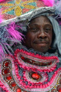 Mardi Gras Indian pink and grey by Kim Welsh 2012