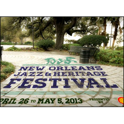 New Orleans Jazz & Heritage Festival 2013 - Congo Square ad