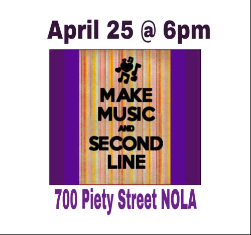 Make Music and Second Line Protest April 25 2013