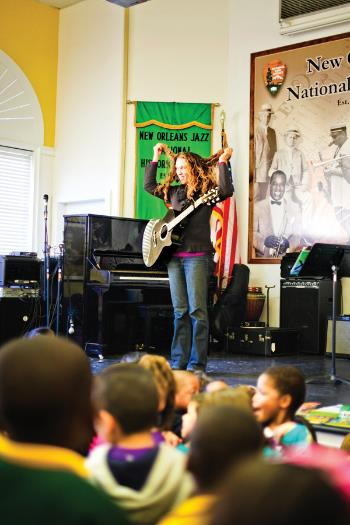 Johnette Downing, Jazz Fest photo, Elsa Hahne