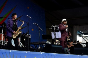 Aaron Neville at Jazz Fest May 5 | Photo by Kim Welsh