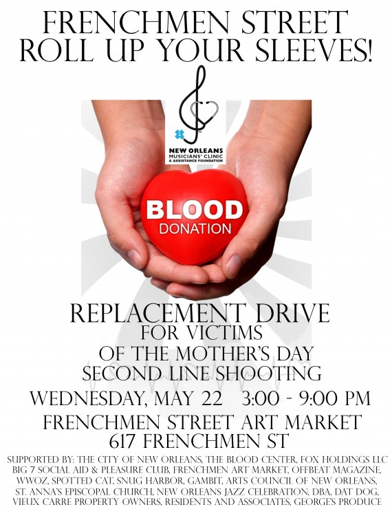 NOMAF 19 Mother's Day victims blood drive flyer