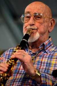 Pete Fountain at Jazz Fest 2013 by Kim Welsh