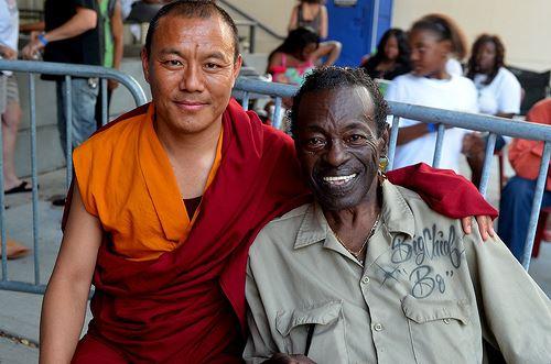Big Chief Bo Dollis, Tibetan Monk, photo, Kim Welsh, Jazz in the Park