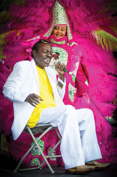 Big Chief Bo Dollis, Jazz Fest 2013, photo, Golden Richard III