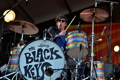 Black Keys, Jazz Fest, 2013, photo, Kim Welsh, drummer