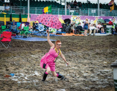 Mud Woman, Jazz Fest 2013, photo, Willow Haley