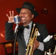 Kermit Ruffins, We Partying Traditional Style, press photo, OffBeat Magazine