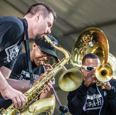 Brass-A-Holics, Jazz Fest 2013, photo, Golden Richard III