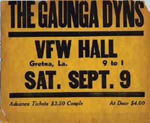 Gaunga Dyns, concert poster, OffBeat Magazine, October 2013