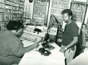 WWOZ-Dwayne-and-Brown-Sugar-in-studio-at-Armstrong-Park