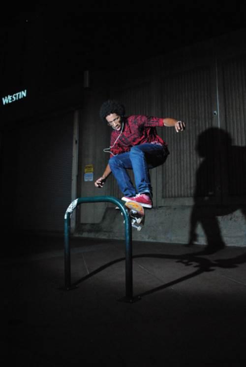 Nightdares, Eugene, skateboarding, pole jam, photo, Brad McCormick
