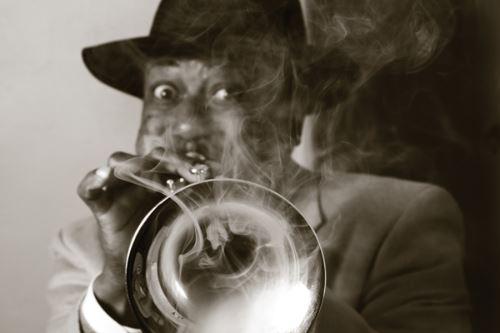 Kermit Ruffins, photo, James Demaria, OffBeat Magazine, January 2014
