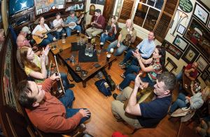 Irish House, musicians, photo, Elsa Hahne, OffBeat Magazine, March 2014