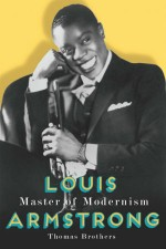Thomas Brothers, Louis Armstrong: Master of Modernism, Book Cover, OffBeat Magazine, April 2014