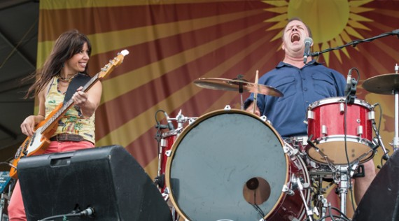 Cowboy Mouth, Jazz Fest 2014, photo, Golden G. Richard III, OffBeat Magazine, June 2014
