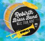Rebirth Brass Band, Move Your Body, album cover, OffBeat Magazine, June 2014