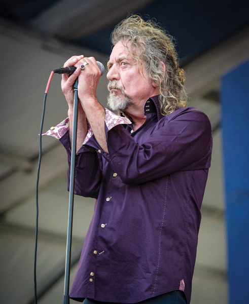 Robert Plant, Jazz Fest 2014, photo, Elsa Hahne, OffBeat Magazine, June 2014