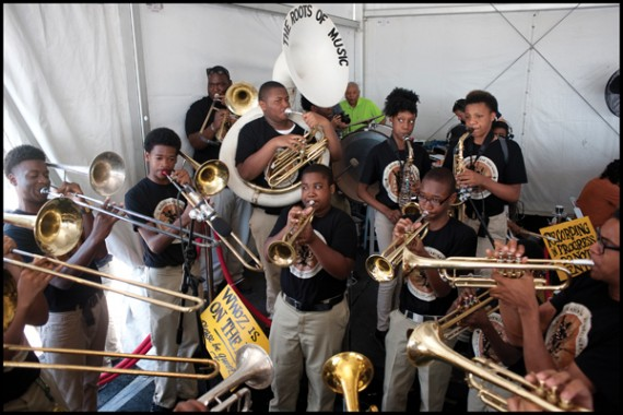 Roots of Music, Jazz Fest 2014, photo, Ryan Hodgson-Rigsbe, OffBeat Magazine, June 2014