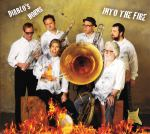 Diablo's Horns, Into the Fire, album cover, OffBeat Magazine, July 2014