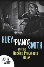 "John Wirt, Huey ""Piano"" Smith and the Rocking Pneumonia Blues, book cover, OffBeat Magazine, July 2014"