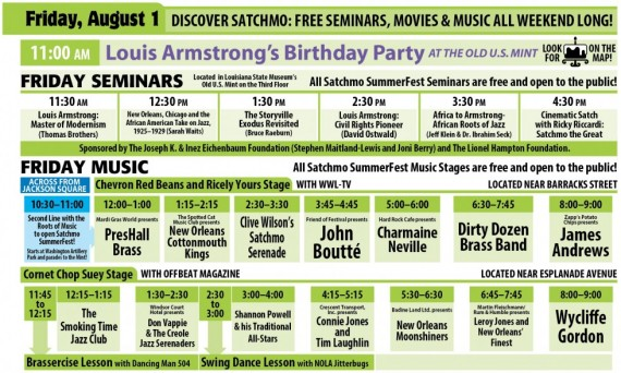 Satchmo SummerFest 2014, Friday, August 1