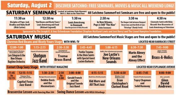 Satchmo SummerFest 2014, Saturday, August 2