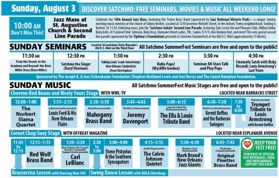 Satchmo SummerFest 2014, Sunday, August 2