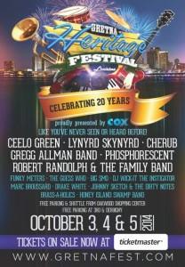 Gretna Hertitage Festival 2014 lineup poster