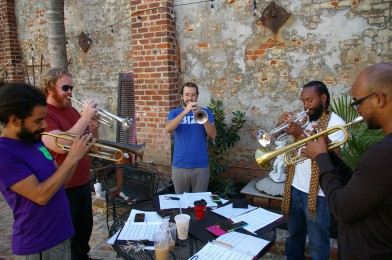 Trumpet Mafia, Photo by Stephen Maloney, OffBeat Magazine