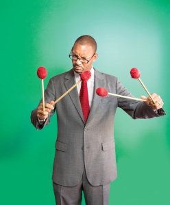 Jason Marsalis, Photo by Elsa Hahne, OffBeat Magazine, November 2014