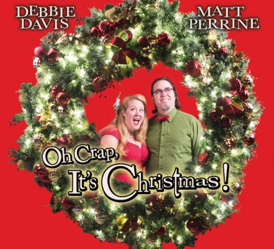 Debbie Davis & Matt Perrine, Oh Crap, It's Christmas, album cover, OffBeat Magazine, December 2014