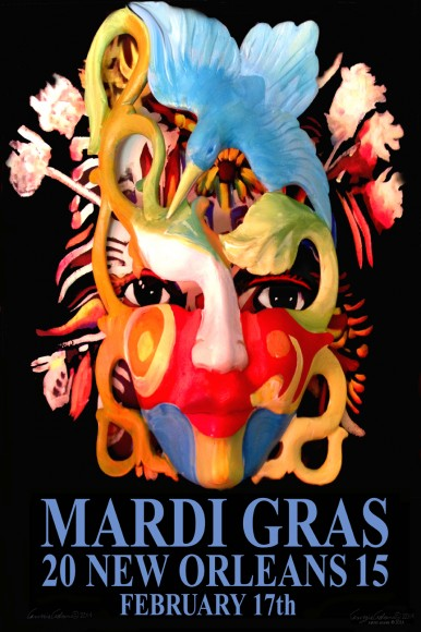 Limited Edition Mardi Gras 2015 Prints by Amzie Adams