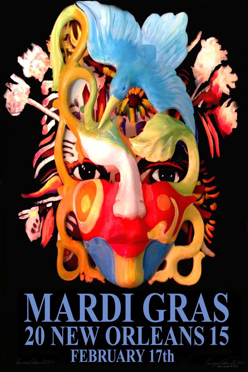 Limited Edition Mardi Gras 2015 Prints by Amzie Adams