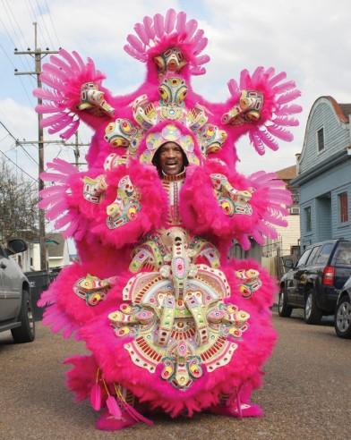 St. Joseph's Day, Mardi Gras Indian, Photo by Karen Ocker, OffBeat Magazine, March 2015