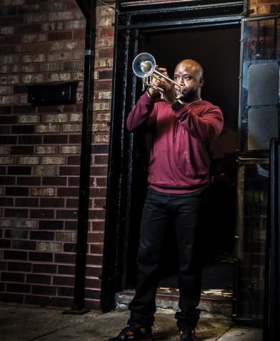 Trumpet Black, Photo by Brandt Vicknair, OffBeat Magazine, April 2015