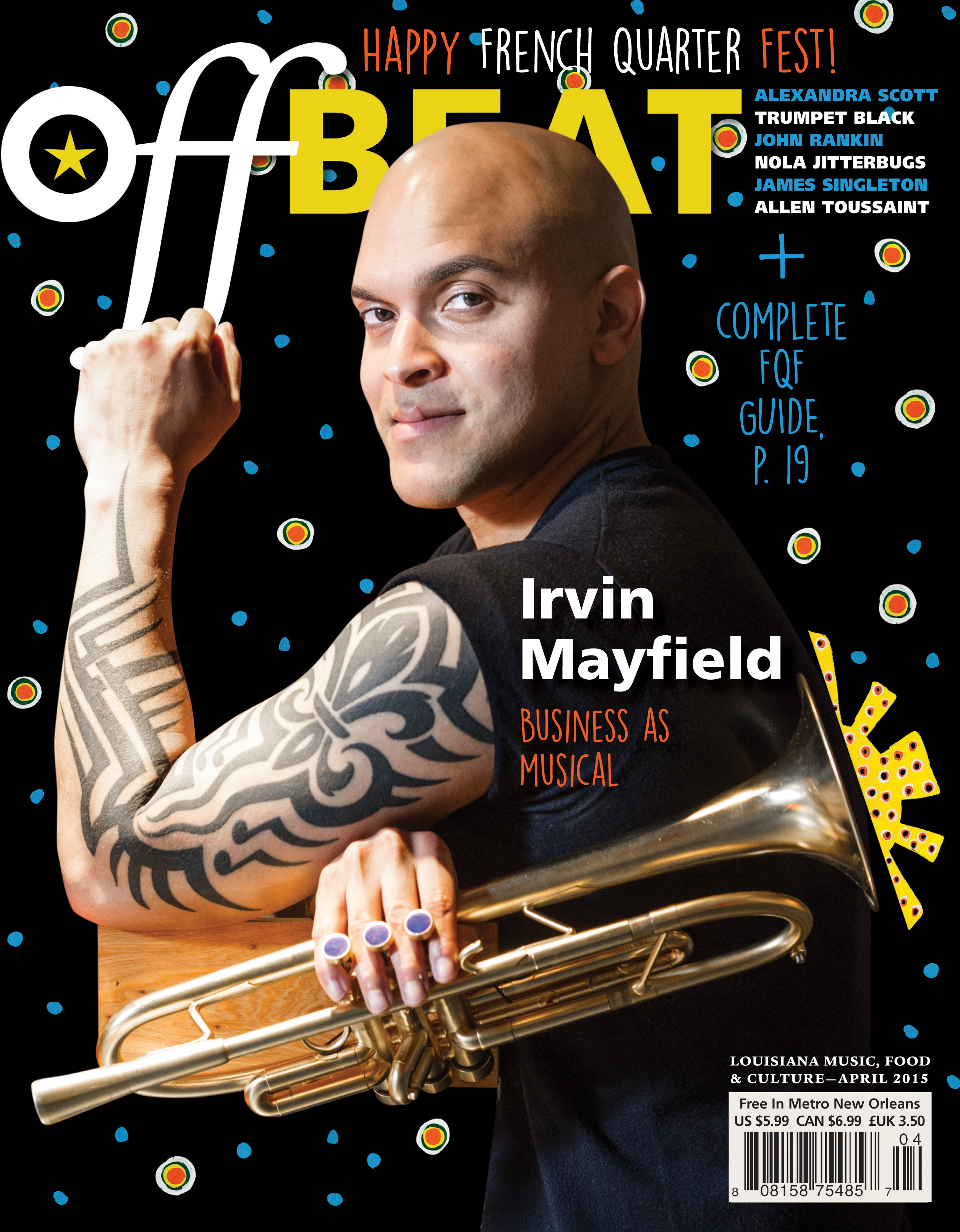OffBeat Magazine, April 2015, Cover