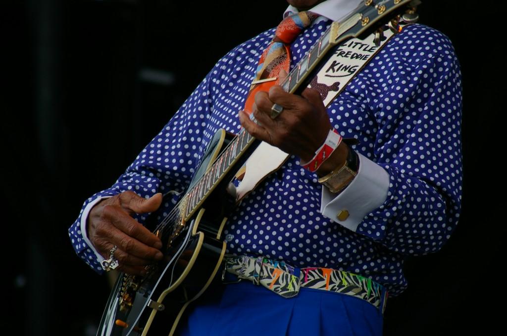 Little Freddie King, French Quarter Fest 2015, Photo by Stephen Maloney, OffBeat Magazine
