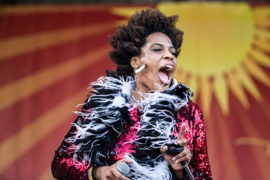 Galactic Featuring Macy Gray, Jazz Fest 2015, Photo by Willow Haley, OffBeat Magazine, June 2015