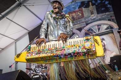 Ironing Board Sam, Jazz Fest 2015, Photo by Willow Haley, OffBeat Magazine, June 2015