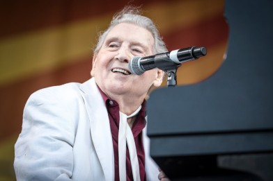 Jerry Lee Lewis, Jazz Fest 2015, Photo by Willow Haley, OffBeat Magazine, June 2015